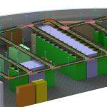 Trassenplanung für ein Rechenzentrum in 3D